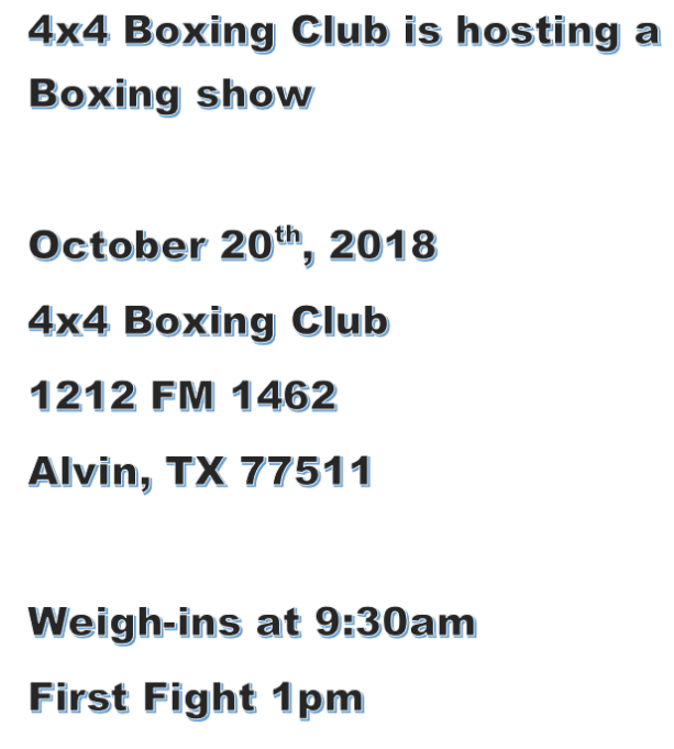 4x4 Boxing show OCT 20 2018