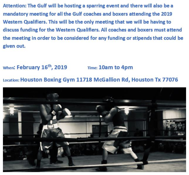2019 Western Qualifier Sparring and Meeting