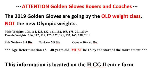Houston Golden Gloves 2019