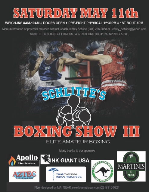 Schlittes Boxing Show May 2019