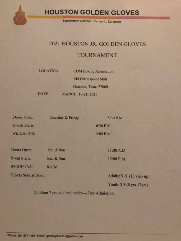 Houston JR GG March 18 THRU 21 2021 Flyer